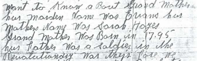 Nancy Morrison Mize letter 1910